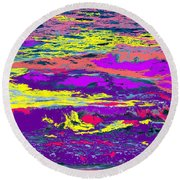 Fiery Passion Round Beach Towel