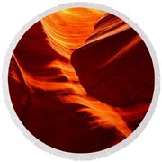 Fiery Sandstone Abstract Round Beach Towel