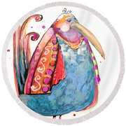 Fiesta Bird Round Beach Towel