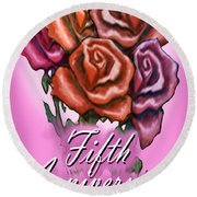 Fifth Anniversary Round Beach Towel
