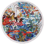 Fifth Day Of Creation 201764 Round Beach Towel