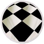 Fifties Kitchen Checkerboard Floor Round Beach Towel
