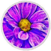 Fifty Shades Of Purple Round Beach Towel