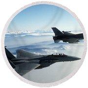 Fighter Jets Round Beach Towel