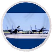 Fighters Round Beach Towel