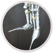 Fighting Boots Round Beach Towel