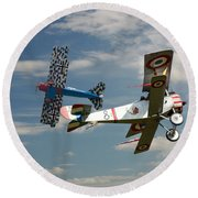 Fighting Colours 2 - Fokker D. Vll - Nieuport Round Beach Towel