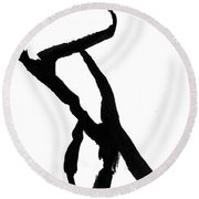 Figure Silhouette Round Beach Towel