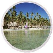 Fiji Resort Round Beach Towel