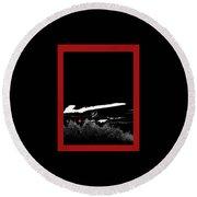 Film Noir Homage Robert Mitchum Blood On The Moon 1948 Rising Moon 2 Casa Grande Arizona 2005-2008 Round Beach Towel