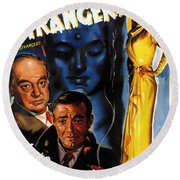 Film Noir Poster Three Strangers Round Beach Towel