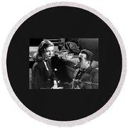 Film Noir Publicity Photo #2 Bogart And Bacall The Big Sleep 1945-46 Round Beach Towel