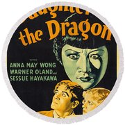 Film Poster For Daughter Of The Dragon Round Beach Towel