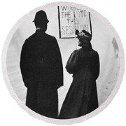 Film Still: Suffragette Round Beach Towel