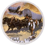 Film: The Covered Wagon Round Beach Towel