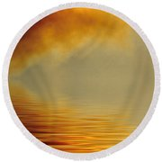 Filtered Sun Round Beach Towel
