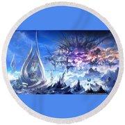 Final Fantasy Xiv A Realm Reborn Round Beach Towel