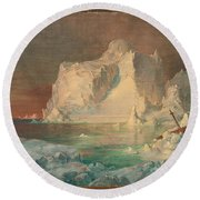 Final Study For The Icebergs Round Beach Towel