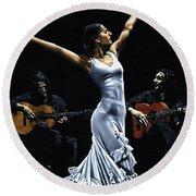 Finale Del Funcionamiento Del Flamenco Round Beach Towel