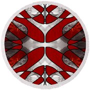 Finding Light In Life Abstract Illustrations By Omashte Round Beach Towel