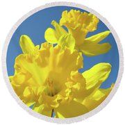 Fine Art Daffodils Floral Spring Flowers Art Prints Canvas Baslee Troutman Round Beach Towel