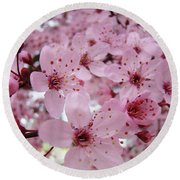 Fine Art Prints Spring Pink Blossoms Trees Canvas Baslee Troutman Round Beach Towel