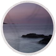 Fine Art- St Ives At Sunset By Phill Potter Round Beach Towel