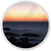 Fine Art - Sunset On The Water Round Beach Towel