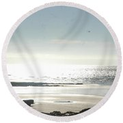 Fine Art - Waves Part 2 Round Beach Towel