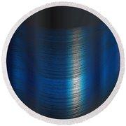 Fine Blue Thread Round Beach Towel