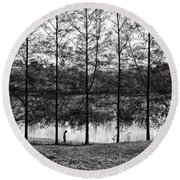 Fine Trees Round Beach Towel