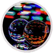 Finger Light Painted Glass Ball Abstract Round Beach Towel