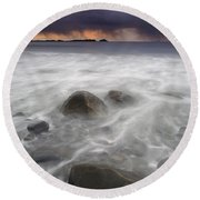 Fingers Of The Storm Round Beach Towel