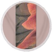 Fingers On Gray Abstract Round Beach Towel