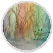 Finian's Rainbow Round Beach Towel