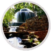 Finlay Park Columbia Sc Summertime Round Beach Towel by Lisa Wooten