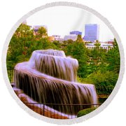 Finlay Park Fountain Summertime Round Beach Towel
