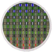 Fir Tree Forest Abstract #7215wt Round Beach Towel