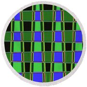 Fir Tree Fork Abstract #7075 Round Beach Towel