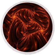 Fire Abstraction Round Beach Towel