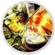 Fire And Desire Abstract Round Beach Towel