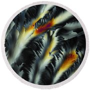 Fire And Frost Round Beach Towel