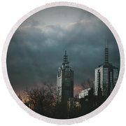 Fire And Ice Round Beach Towel by Andrew Paranavitana
