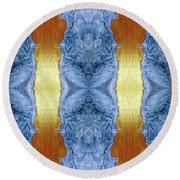 Fire And Ice - Digital 1 Round Beach Towel