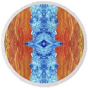 Fire And Ice - Digital 2 Round Beach Towel
