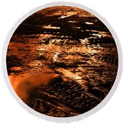 Fire And Water 2 Round Beach Towel