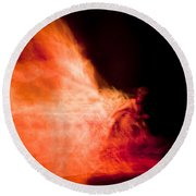 Fire Dance Round Beach Towel