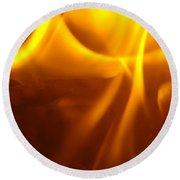 Fire Desire Seattle Art Mesmerizing Autumn Warmth Baslee Troutman Round Beach Towel