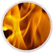 Fire Desires Art Fiery Hot New York Autumn Warmth Baslee Troutman Round Beach Towel