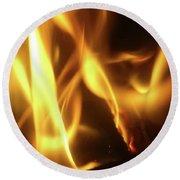 Fire  Feuer Round Beach Towel